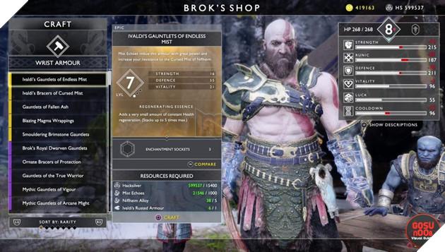 God of War: Top 10 bộ giáp-găng-đai tốt nhất cho Kratos 11