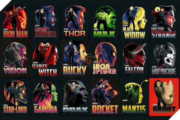 Các siêu anh hùng góp mặt trong Avengers: Infinity War.