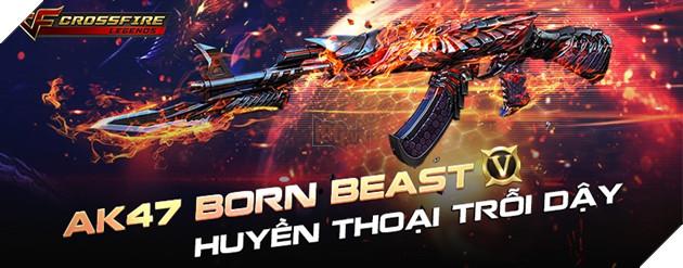 ... có cơ hội nhận được: AK47 Born Beast 12h, 1 ngày, 3 ngày, 7 ngày, vĩnh  viễn hoặc mảnh AK47-Born Beast (cần 60 mảnh để ghép hoàn chỉnh AK47-Born  Beast).
