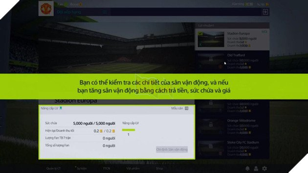 FIFA ONLINE 4 sẽ cho phép game thủ tự xây sân vận động mới, thậm chí còn được quản lý người hâm mộ