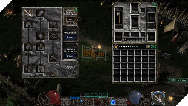 Màn hình quen thuộc của Diablo II