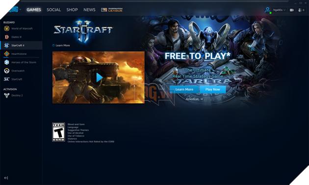 Đầu tiên, các bạn hãy tải nền tảng chơi game của Blizzard tại đây. Sau khi tải xong, bạn hãy lập 1 tài khoản để đăng nhập và sử dụng các dịch vụ.