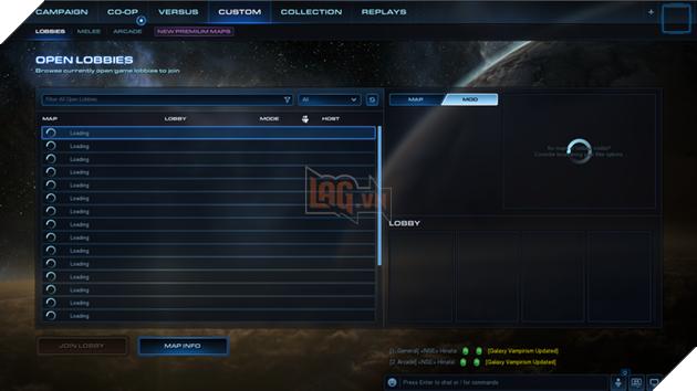 Sau khi vào game, bạn hãy chọn Custom -> Arcade -> Mod
