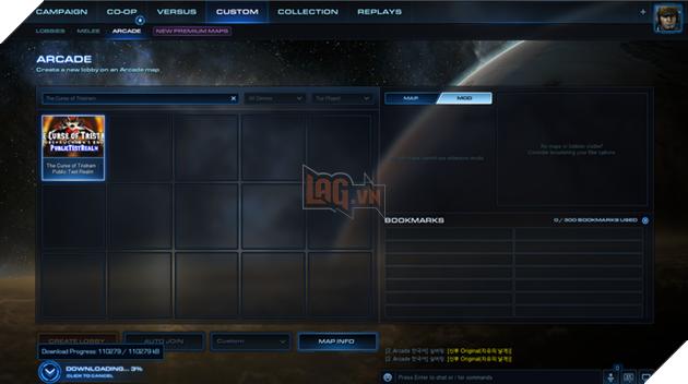 Sau khi đã tìm thấy map, bạn chọn Creat Lobby để bắt đầu game. Ở lần đầu tiên, do phải tải mod về nên bạn sẽ phải đợi 1 lúc (khoàng 10 đến 15 phút).