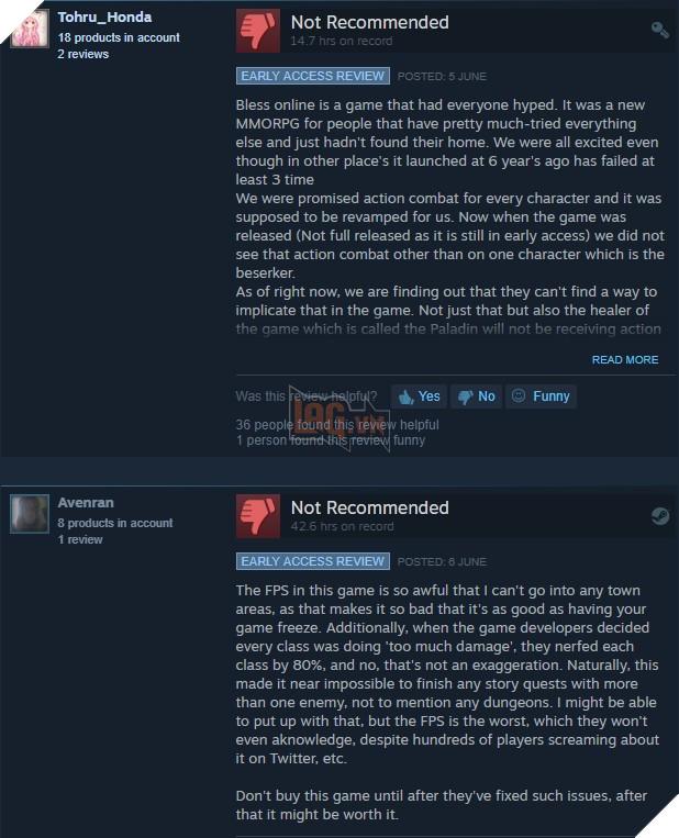 Bless Online nhận phải hàng loạt đánh giá chê bai từ phía game thủ sau 1 tuần ra mắt