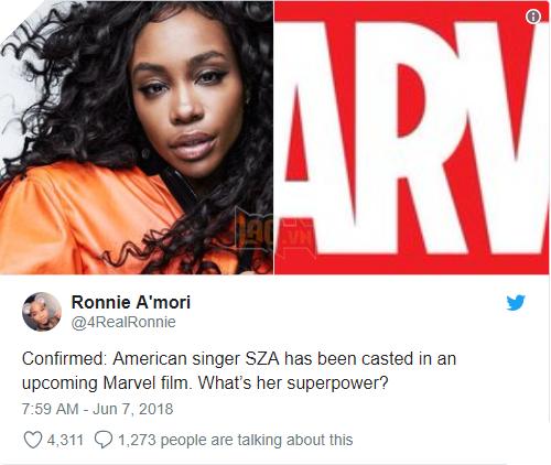 Nữ ca sĩ SZA đã được chọn cho dự án sắp tới của Marvel. Vậy siêu sức mạnh của cô ấy là gì?