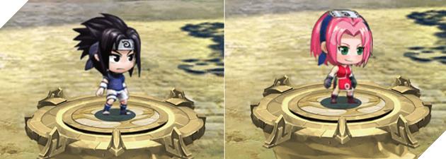 Cộng điểm tiềm năng cho hệ Lôi nhân vật Uchiha Sasuke và Haruno Sakura trong game Làng Lá Phiêu Lưu Ký