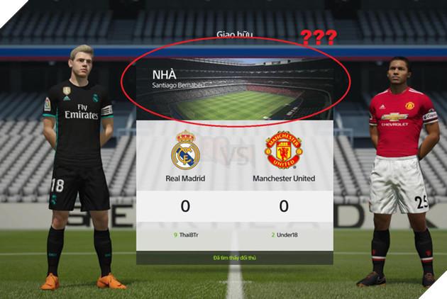 Không có một tính năng thay đổi sân cũng như màu áo của cả 2 đội
