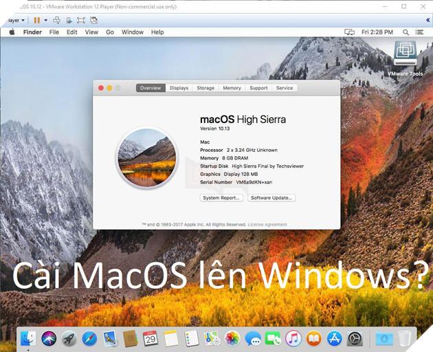 Chạy macOS High Sierra lên Windows? Chỉ là chuyện nhỏ với công cụ sau