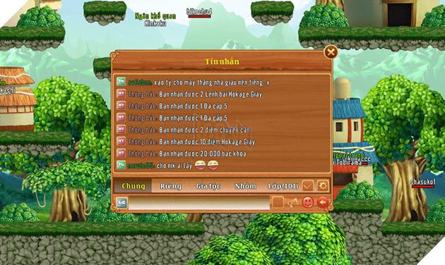 Các phần thưởng từ hoạt động Kiến Thức Nhẫn Giả trong game Làng Lá Phiêu Lưu Ký