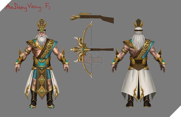 Tạo hình của An Dương Vương trong Huyết Chiến Thiên Hạ được nhiều game thủ quan tâm