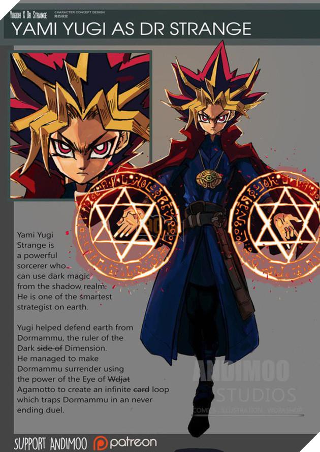 Yami Yugi thành thầy pháp sư giỏi như Doctor Strange.