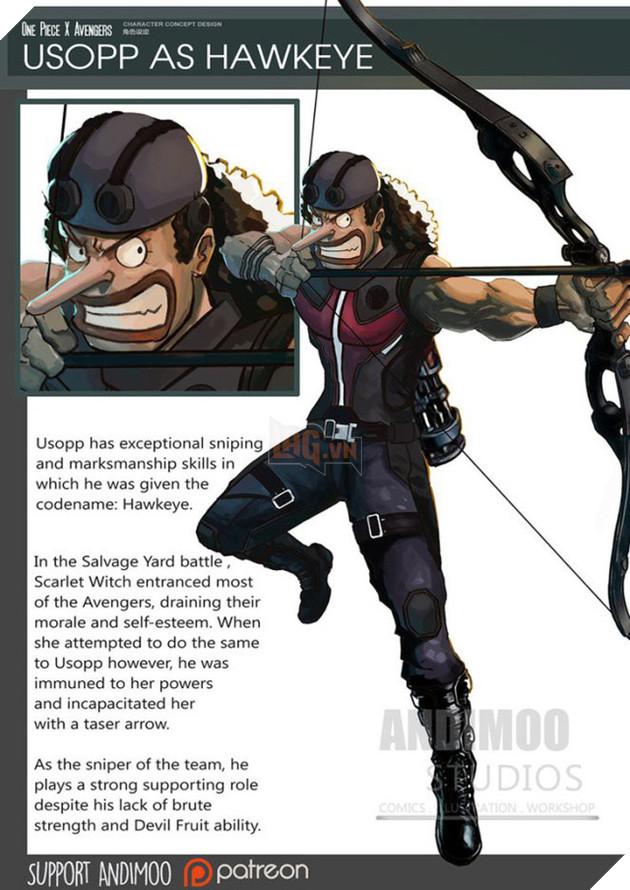 Usopp trở thành Hawkeye là cực kỳ chính xác.