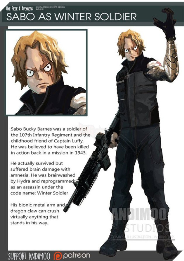 Sabo sẽ trở thành Winter Soldier.
