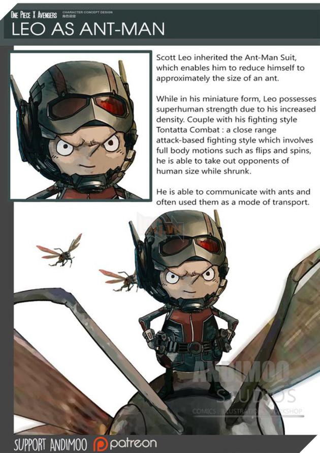 Leo trở thành anh hùng tí hon Ant-Man.
