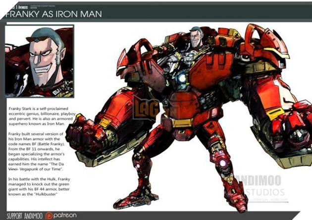Franky trở thành Iron-Man.