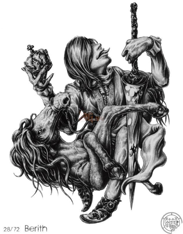 Berith bị coi là một Công tước xấu xa, kể cả đối với những con quỷ khác.  Hắn xuất hiện với hình dáng một ông vua đội chiếc vương miện, ...