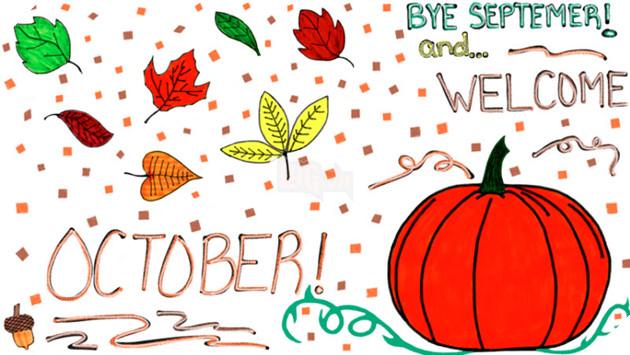 hình ảnh 1 chào tháng 10 để làm stt