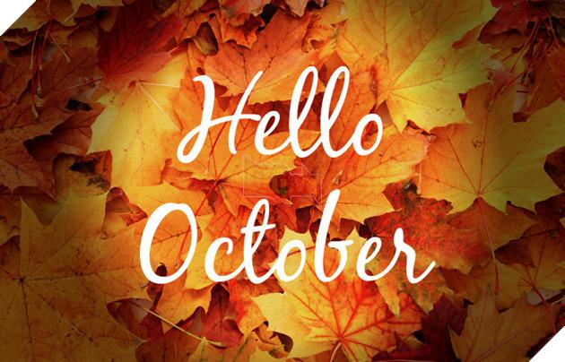 hình ảnh 2 chào tháng 10 để làm stt