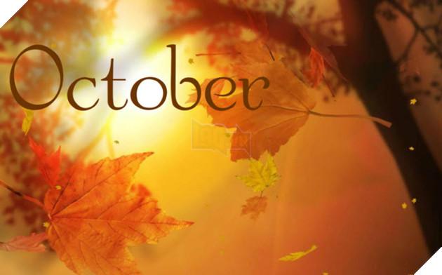 hình ảnh 3 chào tháng 10 để làm stt