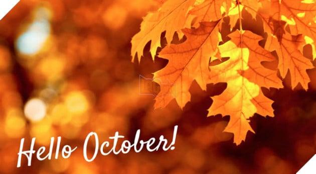 hình ảnh 5 chào tháng 10 để làm stt