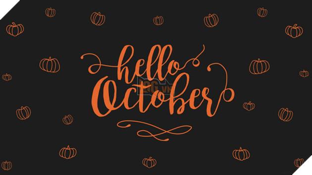 hình ảnh 6 chào tháng 10 để làm stt