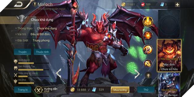 Liên Quân Mobile: Maloch được làm mới tạo hình, xứng với biệt danh Quỷ Vương - Ảnh 2.