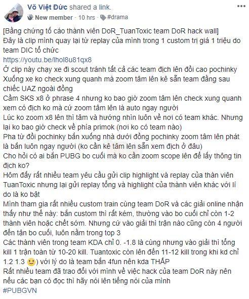 Lùm xùm Drama PUBG tại Việt Nam - Lại có game thủ Hack ngay trong giải đấu 2