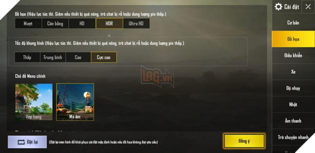 PUBG Mobile VNG: Hướng dẫn dùng GFX Tool để chơi PUBG Mobile VNG setting HDR ở máy cấu hình yếu 2