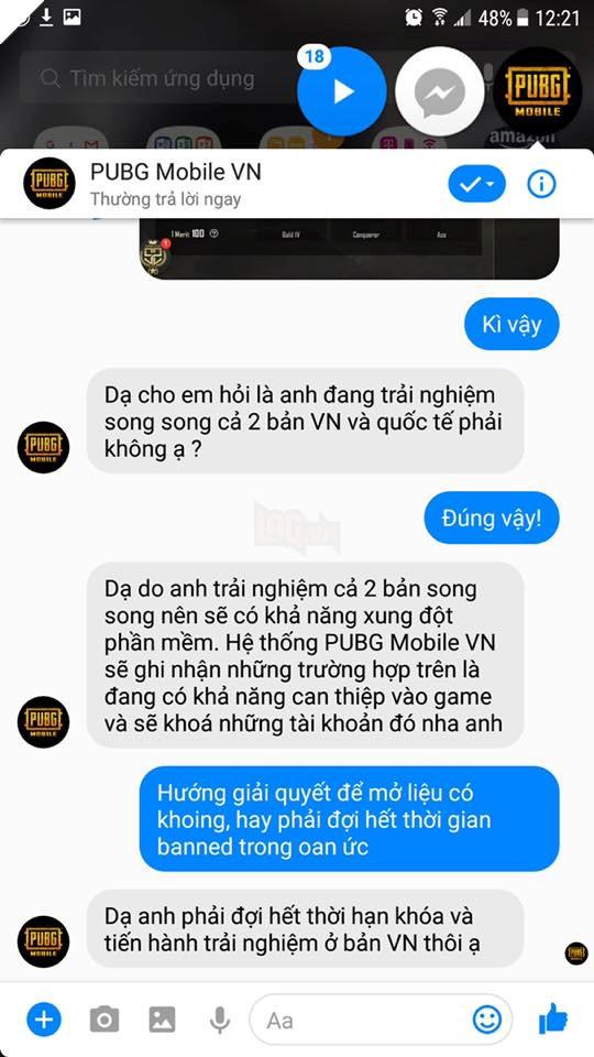 Game thủ cẩn thận, chơi cùng lúc PUBG Mobile VNG và bản Quốc tế sẽ ăn ban 2