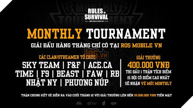 Cuối tuần này xem gì? Chung kết ROS Mobile Monthly Tournament với giải thưởng 33 triệu đồng vào 17h ngày 21, 22/12 2