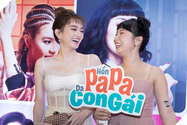 Thái Hòa và Kaity Nguyễn đẹp rạng ngời nhân dịp ra mắt Hop Báo Hồn Papa da con gái  8