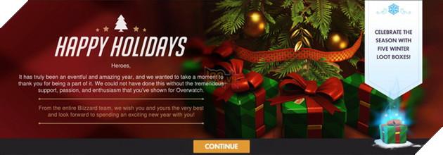Overwatch tiếp tục tặng 5 Loot Box đặc biệt mừng Giáng Sinh đúng dịp như mọi năm 3