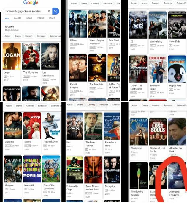 Cộng đồng mạng dậy sóng vì nghĩ rằng Người Sói Hugh Jackman sẽ tham gia Avengers: Endgame bởi vì kết quả tìm kiếm trên Google 2