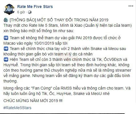 Không được đi thi đấu quốc tế, Snake và Mèo Ú nói lời chia tay RM5S, có khả năng gia nhập Refund Gaming - Ảnh 2.