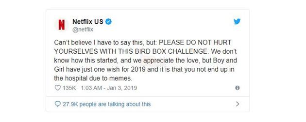 Netflix cảnh báo người xem tuyệt đối không được làm Bird Box Challenge nếu không muốn gặp họa ! 2