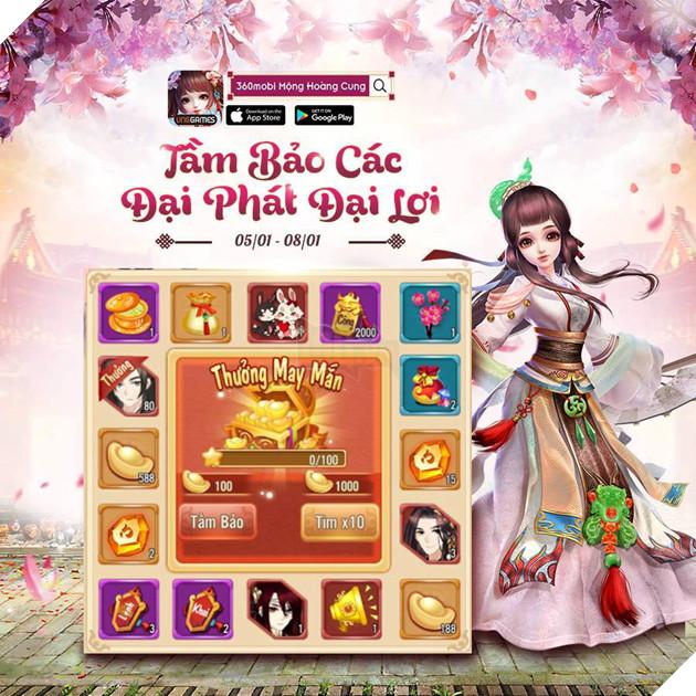 360mobi Mộng Hoàng Cung - Tham gia Mini Game nhận ngay Giftcode mới nhất năm 2019 3