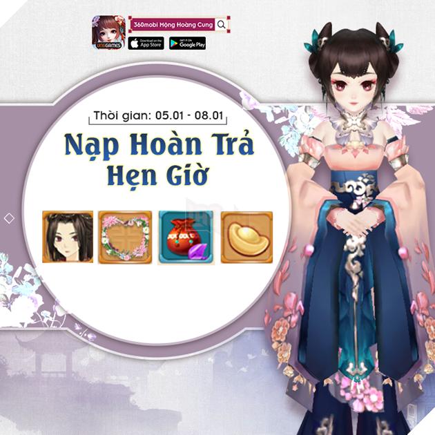 360mobi Mộng Hoàng Cung - Tham gia Mini Game nhận ngay Giftcode mới nhất năm 2019 2