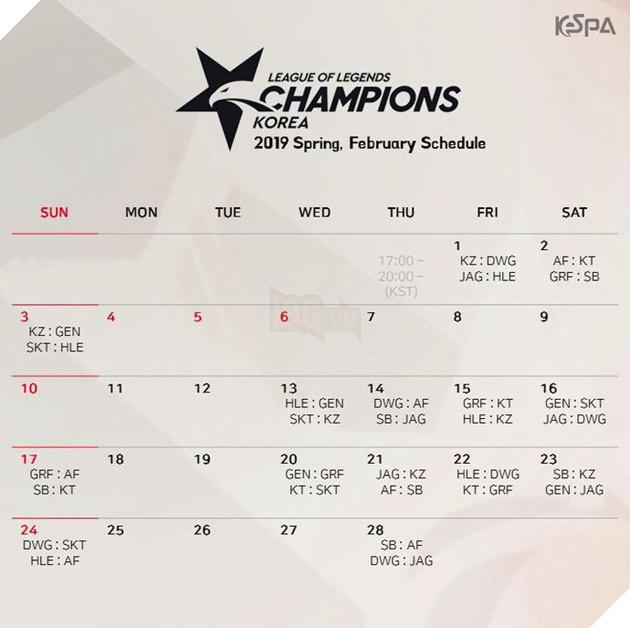LMHT: KeSPA công bố lịch thi đấu chính thức của LCK Mùa Xuân 2019, SKT đánh ngay trận khai mạc - Ảnh 3.