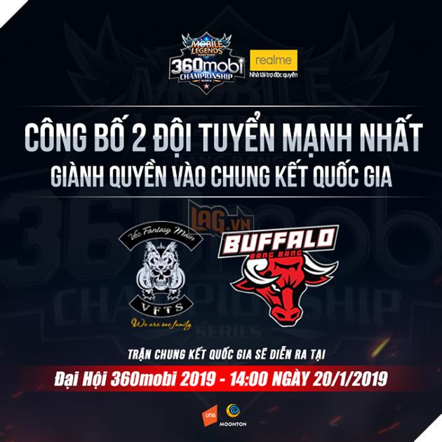 Lộ diện hai đội tuyển mạnh nhất tham dự Chung kết 360Mobi Championship Series 2