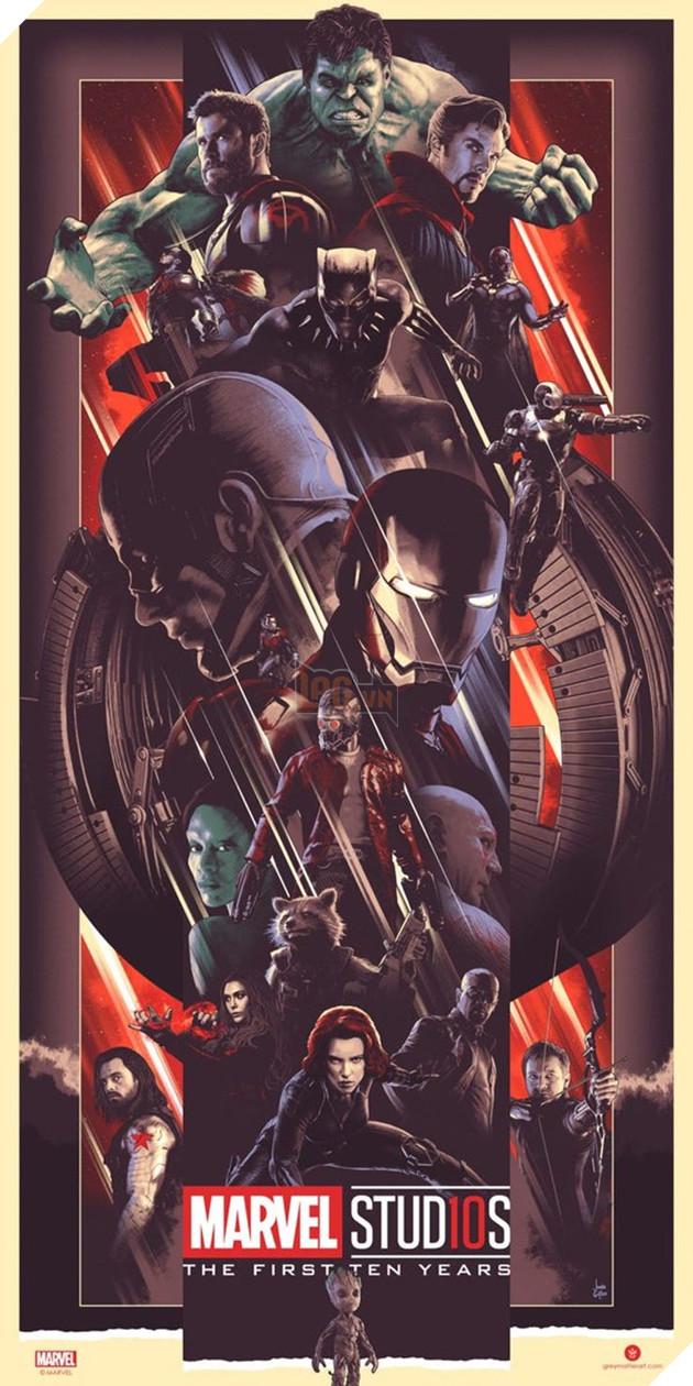 Marvel tung bộ ảnh poster kỷ niệm 10 năm với sự góp mặt của các anh hùng và vai phản diện 2