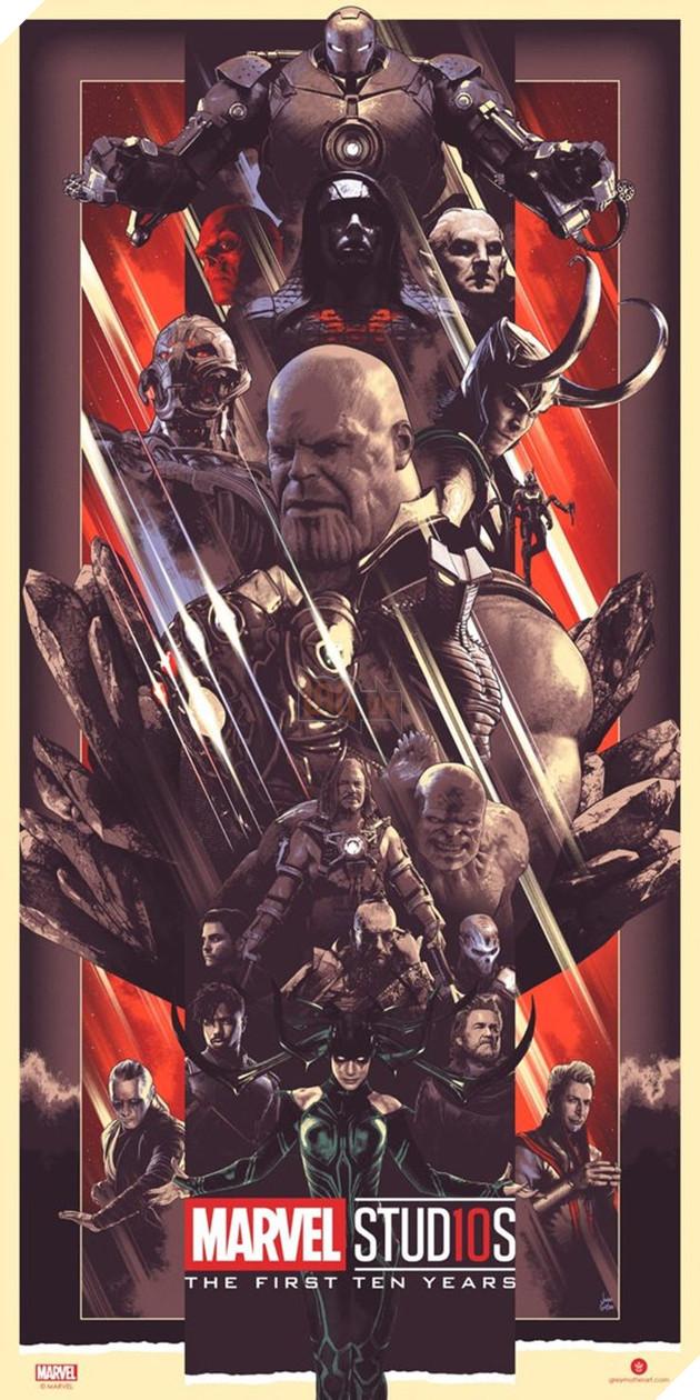 Marvel tung bộ ảnh poster kỷ niệm 10 năm với sự góp mặt của các anh hùng và vai phản diện 3