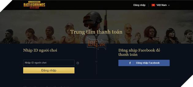 Hướng dẫn nạp UC PUBG Mobile VN qua cổng thanh toán trực tuyến chính chủ VNG 2