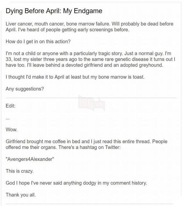 Avengers Endgame: Disney hồi đáp chiến dịch Reddit cho chàng trai bị ung thư