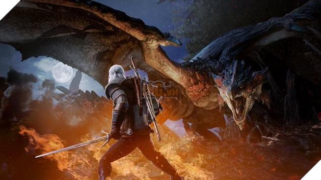 Khi thợ săn Geralt bước chân vào Monster Hunter World 2