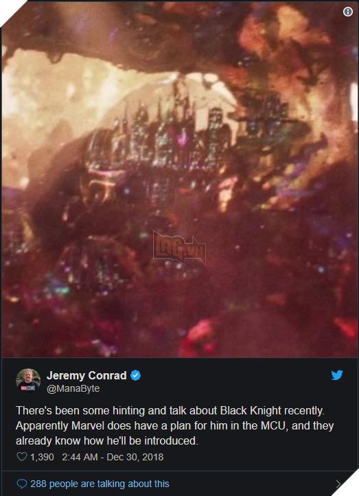 Black Knight có thể xuất hiện trong Avengers: Endgame qua giả thuyết của Jerremy Conrad . Nguồn: Internet.