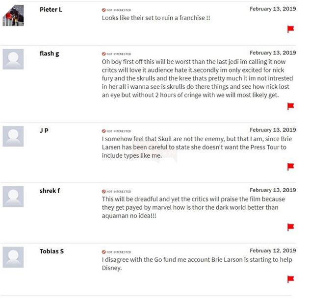 Chưa công chiếu, Captain Marvel đã lĩnh bom Review trên Rotten 2