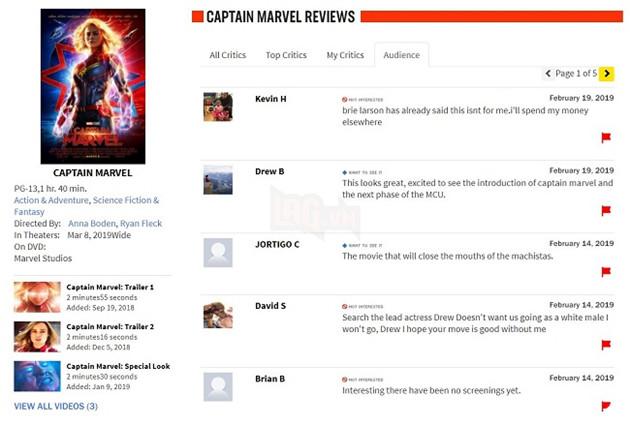 Chưa công chiếu, Captain Marvel đã lĩnh bom Review trên Rotten