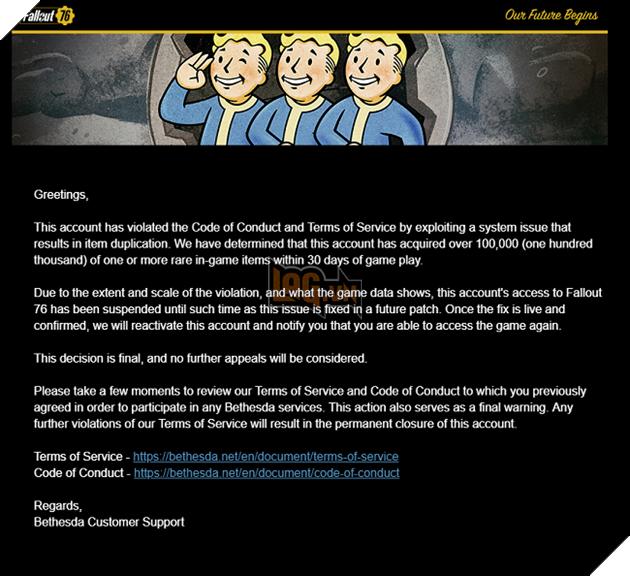 Fallout 76: Người chơi bị ban acc vì ... sở hữu quá nhiều đạn 2