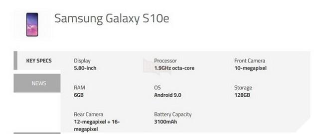 Chi tiết giá và chỉ số cần biết cho 3 phiên bản Samsung Galaxy S10, S10+ và S10e 5